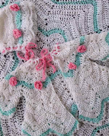 Rosebud Ripple Layette Crochet Pattern