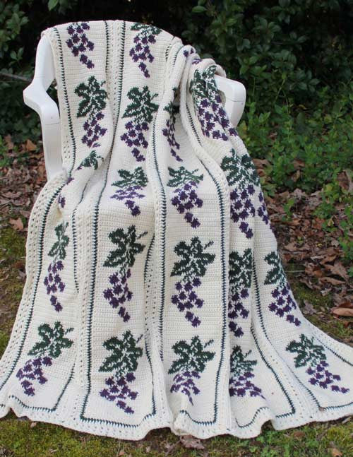 Vintage Grapes Afghan Crochet Pattern Maggie S Crochet