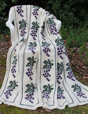 Vintage Grapes Afghan Crochet Pattern
