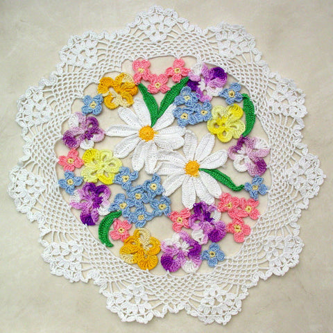 Flower Bouquet Doily