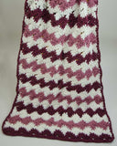 Purple and white striped Catherine Wheel Afghan