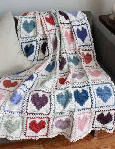 scrap hearts afghan pattern