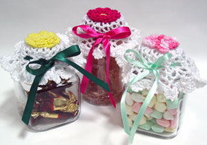 Flower Jar Lid Covers Crochet Pattern - Maggie's Crochet