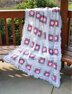 rose radiance afghan