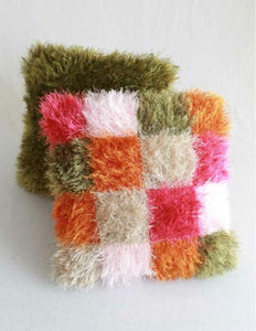 Fun Fur Throw Pillows Crochet Pattern - Maggie's Crochet