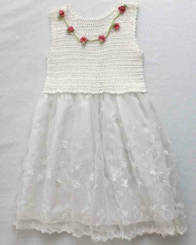 Roses and Lace Sundress for Girls Crochet Pattern - Maggie's Crochet