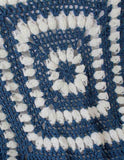 blue swirl afghan up close