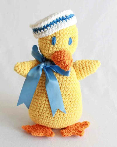 yellow sailor duck toy