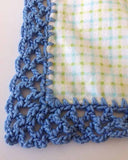 Receiving Blanket Eyelet Edging Crochet Pattern