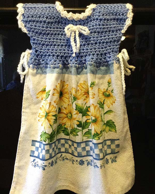 Oven Door Dress Potholder And Fridgie Crochet Patterns