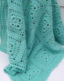 Baby Puff Square Afghan Crochet Pattern