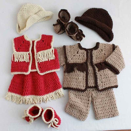 Free Crochet Pattern For Cowgirl Skirt : Maggies Crochet ? Baby Cowboy and Cowgirl Set Crochet Pattern