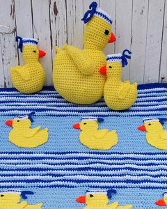 Sailing Duckies Afghan, Pillow and Toy Crochet Patterns - Maggie's Crochet