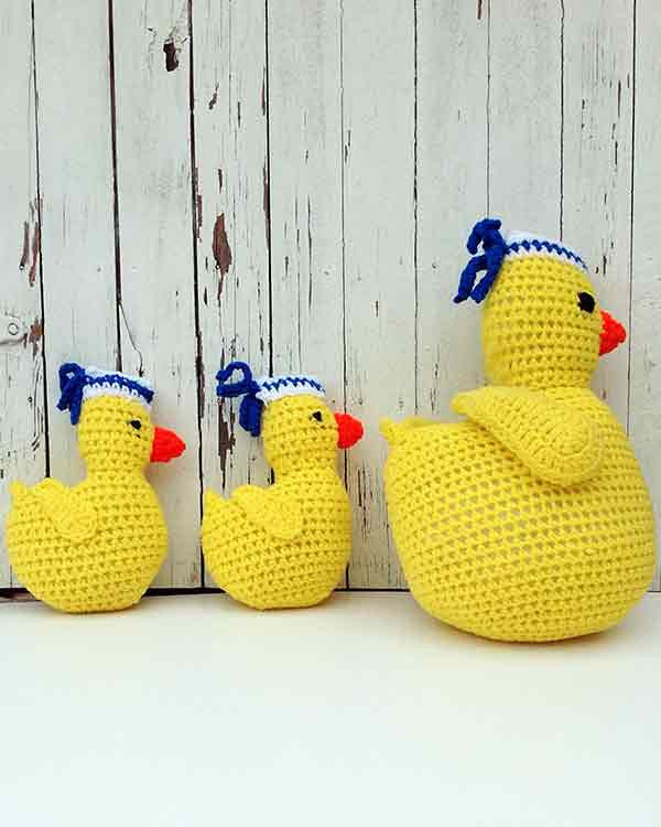 Sailing Duckies Afghan Pillow And Toy Crochet Patterns