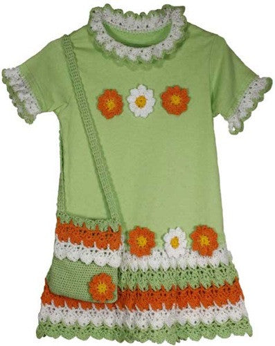 Flower Power T-Shirt Dress Crochet Pattern - Maggie's Crochet