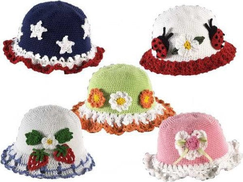 t-shirt dress hat set crochet pattern strawberry hat daisy hat patriotic hat lady bug hat rose and lace hat