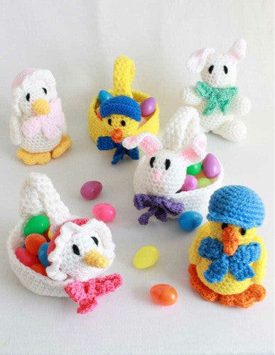 Easter Baskets And Toys Crochet Patterns Maggies Crochet