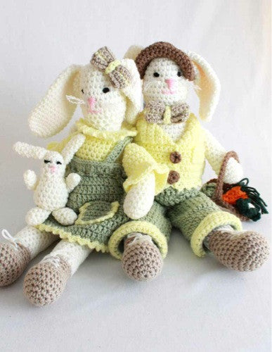 Ernie and Esther Rabbits Crochet Pattern - Maggie's Crochet