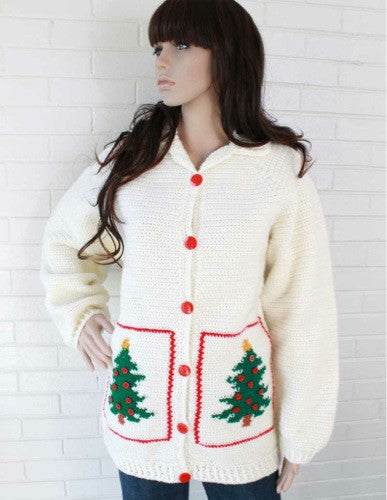 Christmas Tree Sweater Jacket Crochet Pattern - Maggie's Crochet