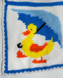 duck with umbrella afghan
