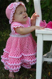 Savannah Ruffled Baby Set Crochet Pattern