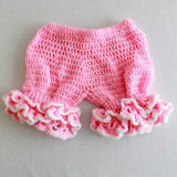 pink and white bloomers