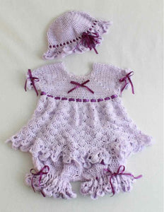Isabella Purple Dress Set Crochet Pattern - Maggie's Crochet