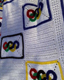 Olympic Rings Afghan and Pillow Crochet Pattern