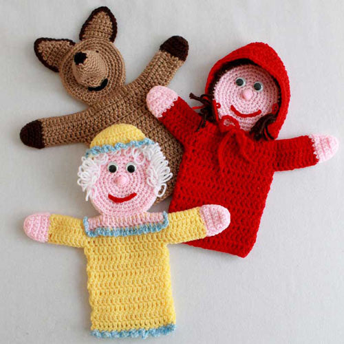 storybook puppets red riding hood