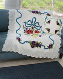 English Garden Afghan and Pillow