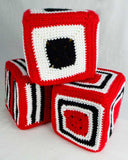 red black and white blocks