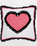 Poodles and Hearts Afghan and Pillows Crochet Pattern - Maggie's Crochet