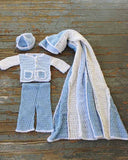 Inside Out Layette Crochet Pattern - Maggie's Crochet
