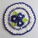violet flower dishcloth