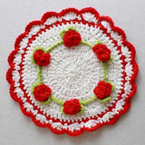 Rosebud flower dishcloth