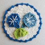 Dark and light blue flower dishcloth