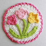 Floral Bouquet of Dishcloths Set 2 Crochet Pattern - Maggie's Crochet