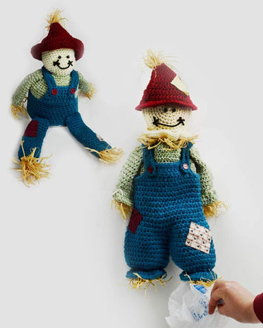 scarecrow bag keeper and toilet paper topper