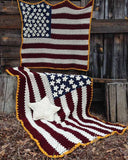 Americana Afghan, Pillow & Wall Hanging Crochet Pattern - Maggie's Crochet