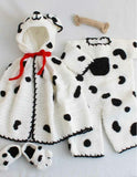spot romper set cape romper bone booties