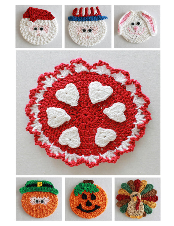 Holiday CD Coaster Crochet Patterns