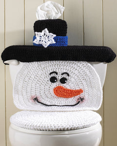 Snowman Toilet Cover Crochet Pattern