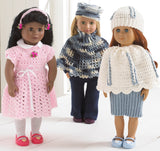 "18"" Dolls Abby, Allie, and Annie Outfit Crochet Patterns - Maggie's Crochet"