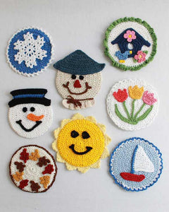 Four Seasons CD Coasters Crochet Pattern - Maggie's Crochet
