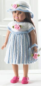 "18"" Doll Little Miss Rosalie Crochet Pattern - Maggie's Crochet"