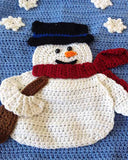 Frosty Fellows Table Runner Crochet Pattern