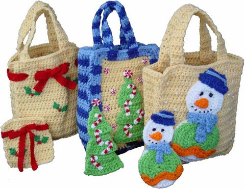 Free Crochet Patterns For Christmas Gift Bags : Christmas Gift Bags Set 1 Crochet Pattern ? Maggies Crochet