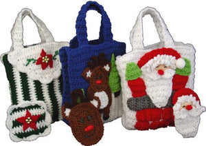 Christmas Gift Bags With Money Holders  Set 2 Crochet Pattern - Maggie's Crochet