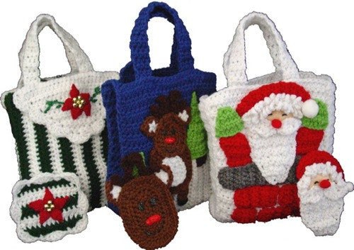 Christmas Gift Bags With Money Holders Set 2 Crochet