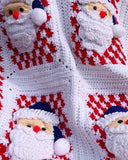 Santa Afghan Wall Hanging and Pillow Crochet Pattern - Maggie's Crochet